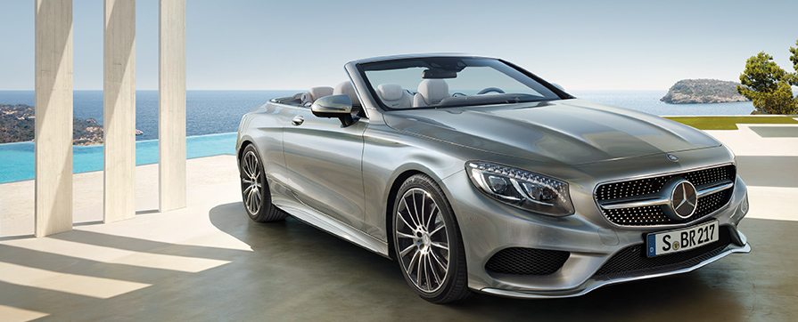 Rent Mercedes Class S Cabriolet at GP Luxury Car Hire