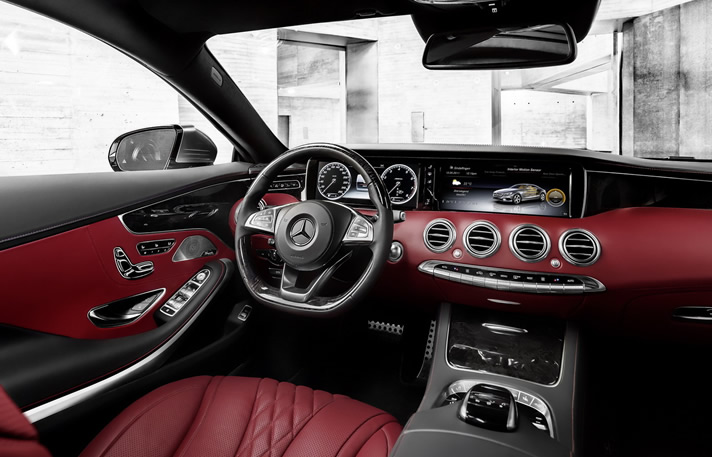 Mercedes S-Class Coupe inside